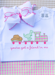 """You've Got a Friend in Me"" Train Applique Shirt (Girls)"