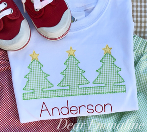 Christmas Tree Trio Applique Shirt