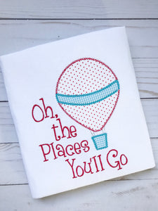 Oh the Places You'll Go Applique Shirt