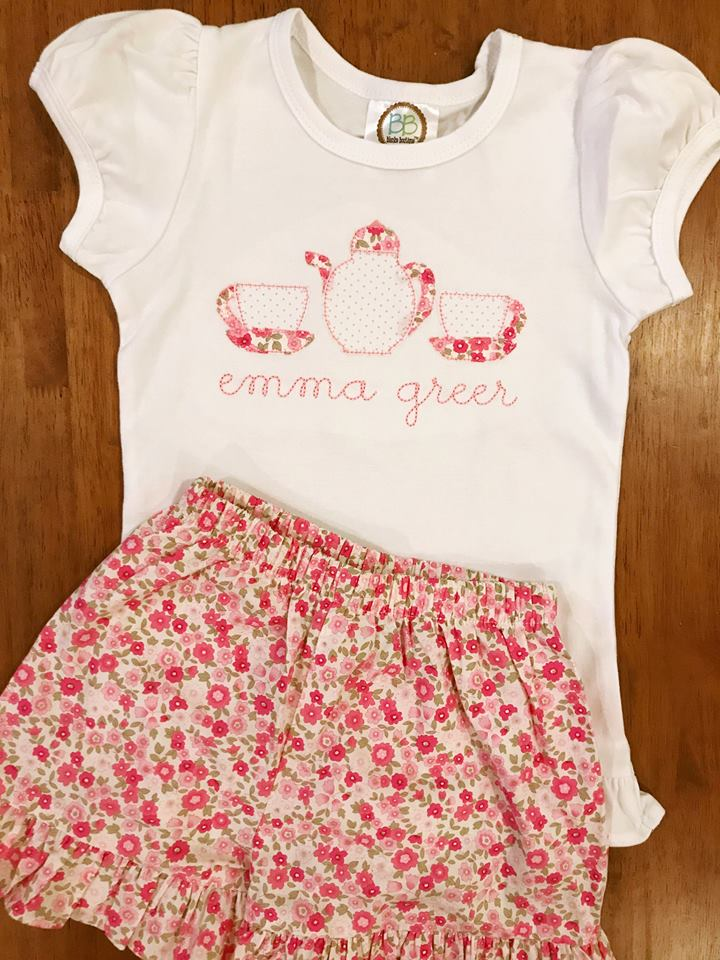Tea Party Applique Shirt