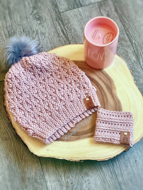 Handmade Crochet Winter Beanie & Coffee Coozy