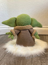 Load image into Gallery viewer, Made to Order Baby Yoda Mandalorian Amigurumi Baby