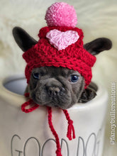 Load image into Gallery viewer, valentines puppy hat
