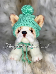 fancybullcreations mint puppy beanie