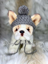 Load image into Gallery viewer, small gray puppy hat