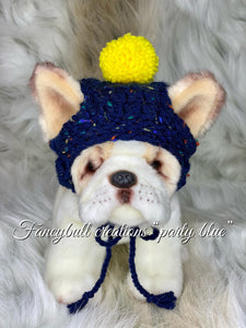 fancybullcreations party blue puppy dog hat