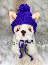 Load image into Gallery viewer, grape winter puppy dog hat