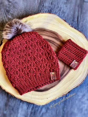 Crochet Slouchy Winter Beanie & Coffee Sleeve