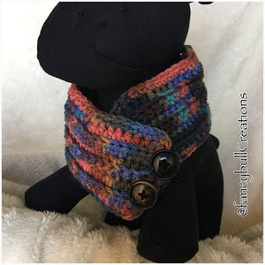 Handmade Crochet Medium breed dog scarf