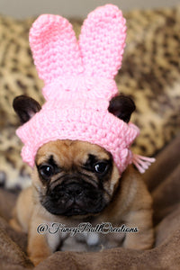 Crochet Easter Bunny small puppy pet hat