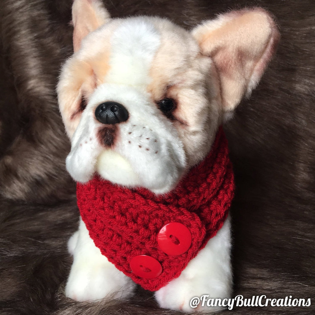 Handmade crochet puppy dog scarf small