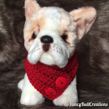 Load image into Gallery viewer, Handmade crochet puppy dog scarf small