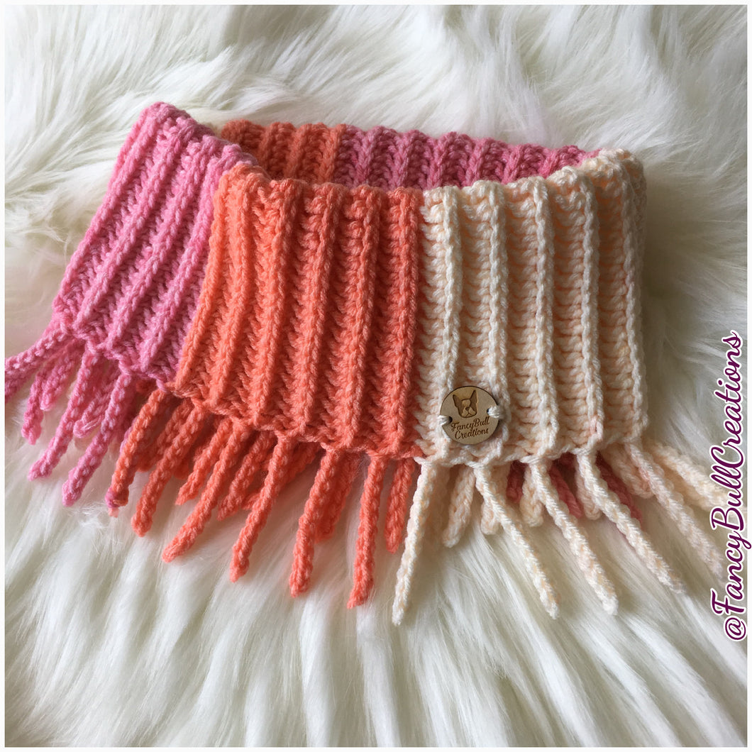 crochet pattern fringed cowl