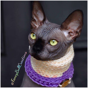 "Handmade Crochet ""Kitty Kowl"" Cat cowl"