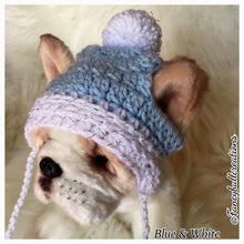 Load image into Gallery viewer, French Bulldog pup pom pom beanie