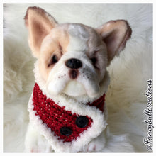 Load image into Gallery viewer, Handmade crochet holiday button pet scarf