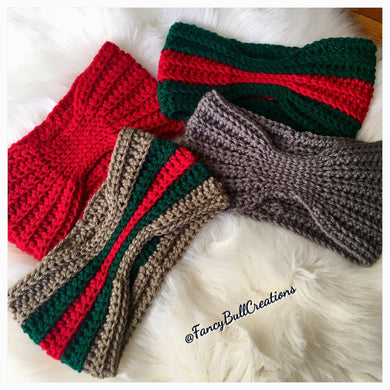 Handmade crochet winter ear warmer headband
