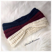 Load image into Gallery viewer, Gucci inspired crochet ear warmer headband