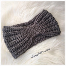 Load image into Gallery viewer, Handmade crochet winter ear warmer headband
