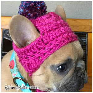 fancybullcreations raspberry puppy beanie