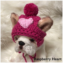 Load image into Gallery viewer, Valentines day heart pompom puppy beanie