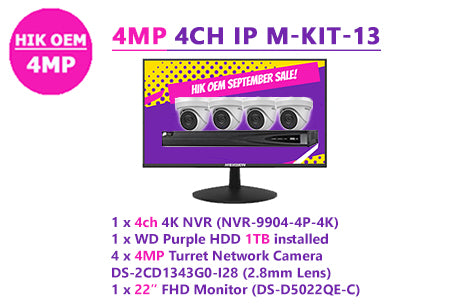HIK OEM 4MP 4CH IP M-KIT-13