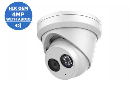 IP-4MP2343G0-I28A (2.8mm)  HIK OEM Network Turret Dome Camera With Audio