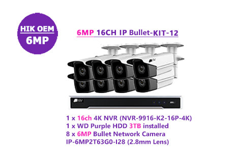 6MP 16CH IP Bullet-KIT-12