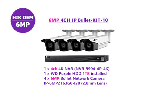 6MP 4CH IP Bullet-KIT-10