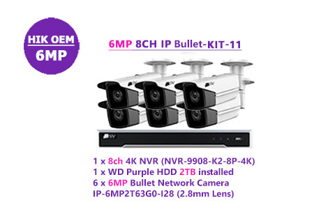 6MP 8CH IP Bullet-KIT-11