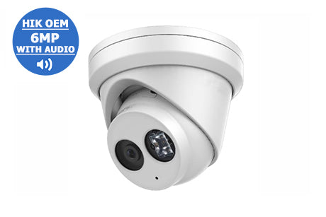 IP-6MP2363G0-I28A (2.8mm)   6MP WDR Network Turret Dome with Audio