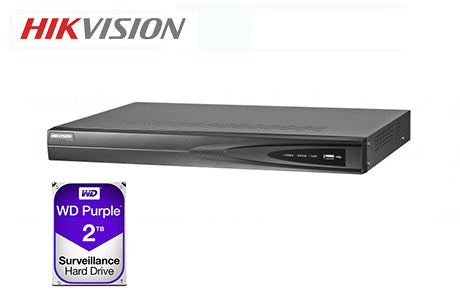 DS-7604NI-K1-4P-2TB   Hikvision 4ch PoE NVR