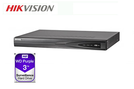 DS-7604NI-K1-4P-3TB    Hikvision 4ch PoE NVR
