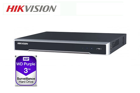 DS-7608NI-I2-8P-3TB    Hikvision 8ch PoE NVR