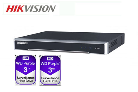 DS-7608NI-I2-8P-6TB (2 x 3TB)    Hikvision 8ch PoE NVR