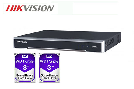 DS-7616NI-I2-16P-6TB (2 x 3TB)    Hikvision 16ch PoE NVR