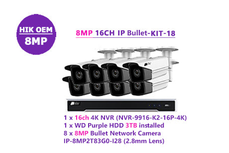 8MP 16CH IP Bullet-KIT-18