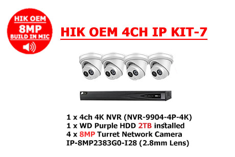HIK OEM 8MP 4CH IP KIT-7