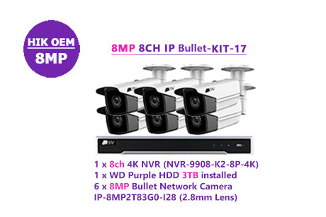 SV 8MP 8CH IP Bullet Kit -17