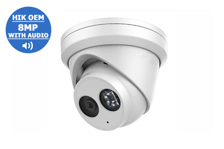 IP-8MP2383G0-I28A (2.8mm)  8MP WDR Network Turret Dome with Audio