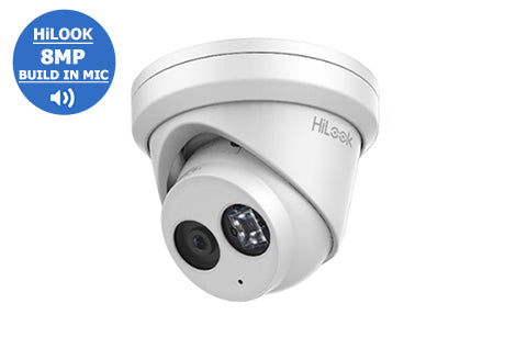 IPC-T280H-MU (2.8mm)   HiLook 8MP WDR Network Turret Dome with Audio