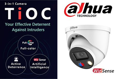 DH-IPC-HDW3849HP-AS-PV-0280B 8MP Full-color Active Deterrence WizSense Network Camera
