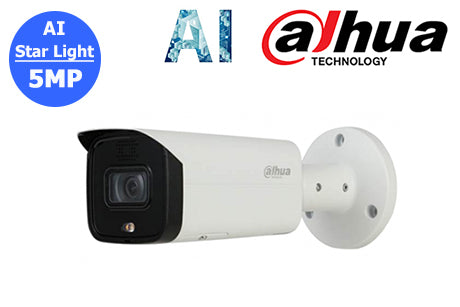 DH-IPC-HFW5541TP-AS-PV-0280B Dahua 5MP Starlight AI Network Bullet Camera