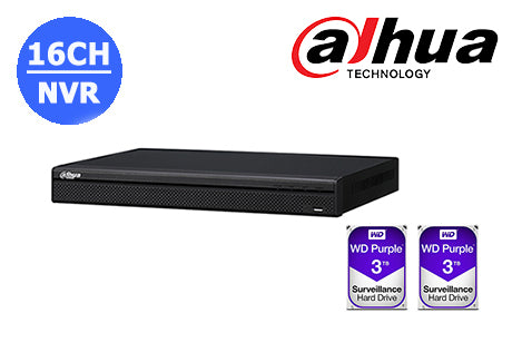 DHI-NVR4216-16P-4KS2L-6TB (2 x 3TB)     4K  16CH NVR with built in POE