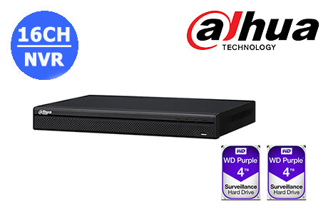 D-DHI-NVR4216-16P-4KS2-8TB (2 x 4TB)     4K  16CH NVR with built in POE