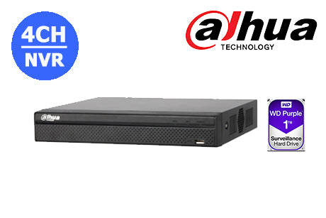 DHI-NVR4104HS-P-4KS2-1TB Dahua 4K  4CH NVR with built in POE