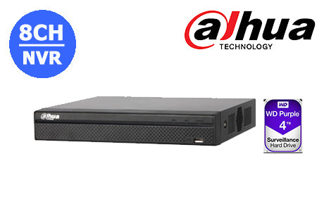 DHI-NVR4108HS-8P-4KS2L-4TB Dahua 4K  8CH NVR with built in POE