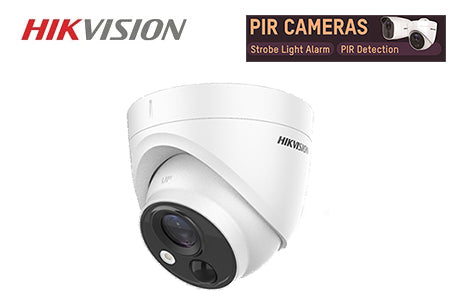 DS-2CE71H0T-PIRLO  Hikvision TVI 5MP PIR Turret Camera