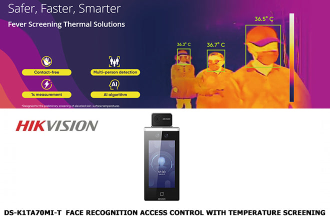 DS-K1TA70MI-T Face Recognition Access Control with Temperature Screening