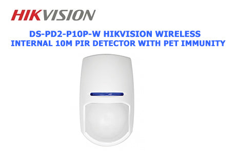 DS-PD2-P10P-W Hikvision Wireless internal 10m PIR detector with pet immunity